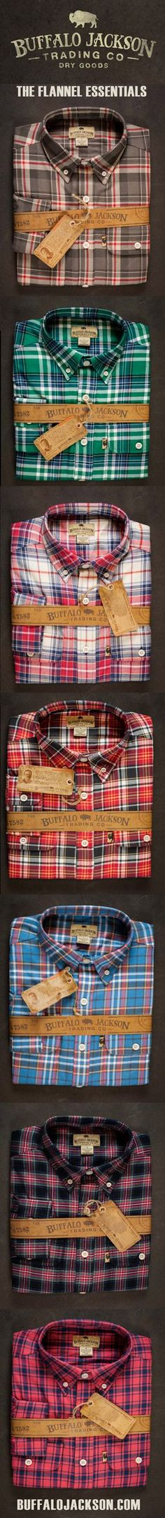 The Ultimate Flannel Collection. These men's flannel shirts are made of soft, sturdy, midweight flannel. This is the flannel shirt he wants to wear (and you want to see him in). Super popular gift for him this year.