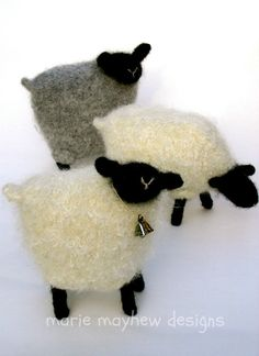 A Knit & Felt Wool Sheep - woollysomething