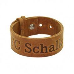 Lederarmband FC Schalke 04 - #Bundesliga, Fußball, #Soccer, #Fanartikel, #Armband, #Sportmode - http://www.multifanshop.de