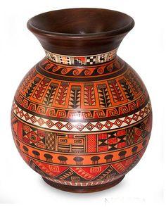 Aged Cuzco vase, 'Magic of Urubamba' by NOVICA