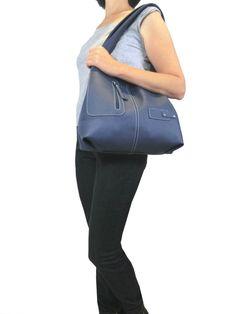 Black Genuine Italian Leather hobo bag, Travel bag, Shopping bag, Tote bag by toyokobags on Etsy