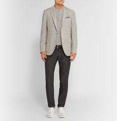 Boglioli - Grey Dover Slim-Fit Slubbed Silk-Blend Blazer