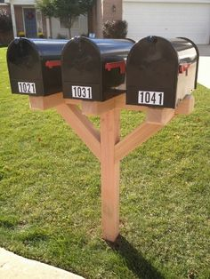 double mailbox post Mailboxes We Offer For the Home Pinterest