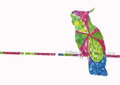 Cockatoo | Art Illustration from original artwork | www.madeit.com.au/klostee