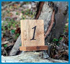 Rustic Reclaimed Wood Free Standing Wedding Table Numbers, Wedding Table Décor, Rustic Wedding Decor - Wedding table decor (*Amazon Partner-Link)