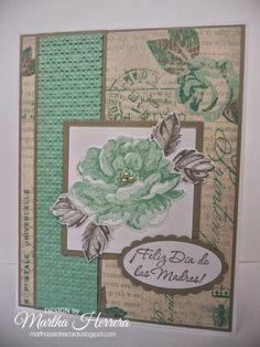 Martha Creates: PP194...Vintage Card - SU Stippled Blossoms