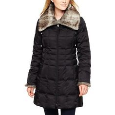 Liz Claiborne Long Quilted Jacket - jcpenney, $80