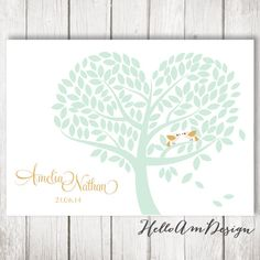 Guest Book Tree  Wedding Guest Book Poster with 150 by HelloAm, $39.90