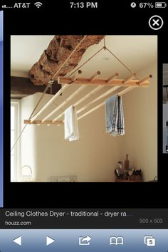 drying rack- raises and lowers,  simple enough to make. clothing, herbs, candles...