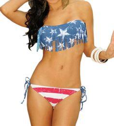 Pinkyee Women's American Flag Fringe Padded Top Scrunch Butt Bikini           ($16.69) http://www.amazon.com/exec/obidos/ASIN/B00GZ0Q6PW/hpb2-20/ASIN/B00GZ0Q6PW