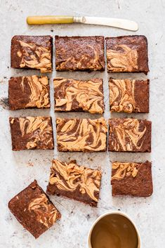 Vegan Peanut Butter Banana Brownies