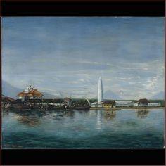 Litho C.v.d.Horts 1931 : De haven van Semarang.