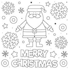 Merry christmas coloring page black and white vector New Year Coloring Pages, Owl Coloring Pages, Halloween Coloring Pages, Mandala Coloring Pages, Coloring For Kids, Merry Christmas Pictures, Christmas Owls, Christmas Drawing, Christmas Colors