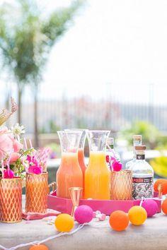Flamingo Themed Pool Party/ Summer Entertaining / Easy Entertaining/ Pool Party / Easy Cocktails