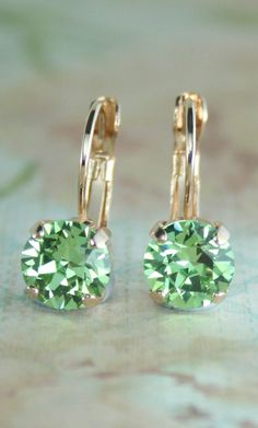 wedding jewelry for bridesmaids cheap Peridot Earrings, Swarovski Crystal Earrings, Rose Gold Earrings, Gold Rings Jewelry, Cute Jewelry, Jewelery, Wedding Rings For Women, Birthstone Jewelry, Schmuck Design