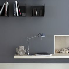 Grey walls home office