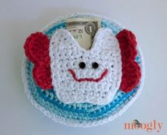 Magical Tooth Fairy Pillow - As soon as your little one loses that loose tooth, this crochet pillow pattern will certainly come in handy because of the small pocket.
