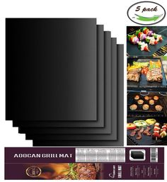 Aoocan Grill Mat Set of Non-stick BBQ Grill & Baking Mats - FDA-Approved, PFOA Free, Reusable and Easy to Clean - Works on Gas, Charcoal, Electric Grill and More - x 13 Inch ** You can find more details by visiting the image link. Barbecue Grill, Bbq Roast, Bbq Tool Set, Cooking Sheet, Four Micro Onde, Clean Grill, Grill Gas, Clean Clean, Grill Accessories