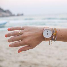 Beach escape   Rose Gold Watch.