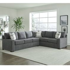 Shop for Gerard Grey Sectional Sofa Bed with Queen Gel Memory Foam Mattress. Get free delivery On EVERYTHING* Overstock - Your Online Furniture Shop! Living Room Partition Design, Room Partition Designs, Living Room Sofa Design, Sofa Bed Living Room, Sectional Sleeper Sofa, Corner Sectional, Modern Sectional, Sofa Furniture, Living Room Furniture
