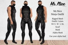 340b314f3 Second Life Marketplace - PROMO TIME! Mr.Nice Ninja Outfit - 1 linden #