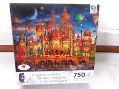 New Ciro Marchetti Ceaco Magical World Downtown Puzzle Series 2 Castle #CiroCarchetti