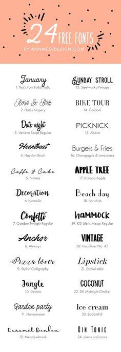 24 Free Fonts