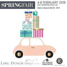 We're getting ready for Spring Fair 2018. Will we see you there? Let us know! We've got some fabulous new designs and we can't wait to share them with you all.