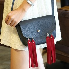 Fashion 2017 Mini  Bolsa Bag Women Candy Color Tassel Messenger Bags Female Handbag Shoulder Bag Flap Women Bag