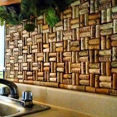 How to make a cork backsplash for your kitchen tutorial Want to