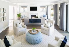 "Family Home with Classic Transitional Interiors - ""Living Room Furniture Layout"""