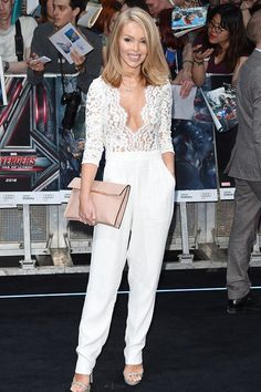 Vestry Online | Katie Piper wears our Heart Of Glass Jumpsuit in White