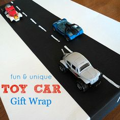 Unique Gift Wrap Idea With Toy Cars By Love Grows Wild Use This To Birthday Gifts