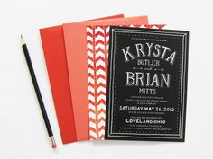 Krysta + Brian's Pattern Filled Wedding Invitations | Design and Photo Credits: Scout's Honor Co.