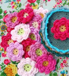 crocheted flowers.  cute on everything for little girls......and big girls too.