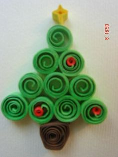 Árbol Navidad de goma eva o fieltro