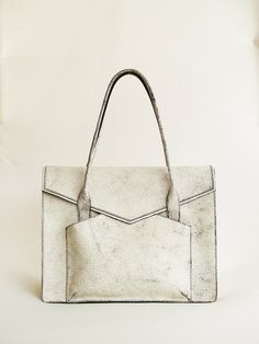 Stylish Satchel with Cutting edge design in white by 14thBags