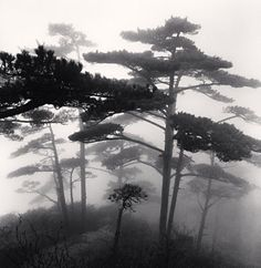 Michael Kenna, Huangshan Mountains, Study 15, Anhui, China, 2009 gelatin silver print