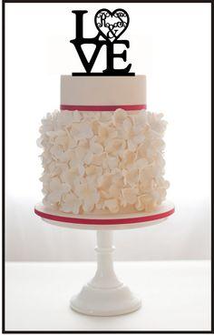 Personnalisé Wedding Cake Topper LOVE Monogram pour par Mclaserpro