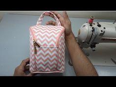 Diy Bags Purses, Diy Purse, Handbag Patterns, Bag Patterns To Sew, Diy Sac, Sewing Courses, Baby Frocks Designs, Zipper Pouch Tutorial, Backpack Pattern
