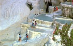 """The site is named in Turkish as """"Pamukkale"""", that means """"cotton castle"""", parallel to the glorious and spectacular view of the site. The dazz..."""