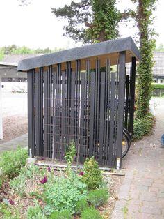Pin on Trädgård Pin on Trädgård Carport Canopy, Pergola, Outdoor Bike Storage, Bike Shelter, Narrow Garden, Bike Shed, Garden Structures, Backyard Patio, Garden Projects
