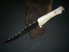 "Alligator jaw bone custom made 11"" knife"