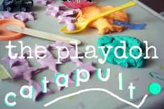 the playdough catapult. Pinned by The Sensory Spectrum.