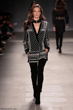Alessandra Ambrosio for BALMAIN X H&M Collection (October 2015). #balmain