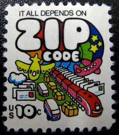 SO MUCH PILEUP: Philately Fridays: USA, 1974 It all depends on ZIP code