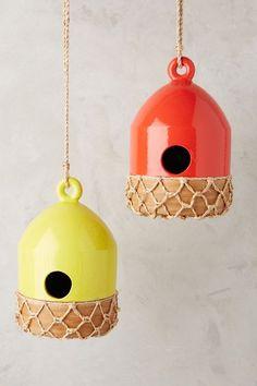 Ceramic Buoy Birdhouse - anthropologie.com