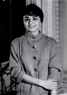 young Farah Diba later Empress of Iran.