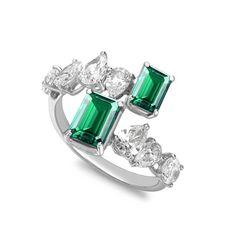 William & Son MYA emerald and diamond ring