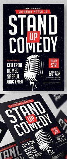 Stand Up Comedy Flyer Template   #flyerdesign #flyertemplates #postertemplate #posterdesign #psdflyers #businessflyer #corporateflyer